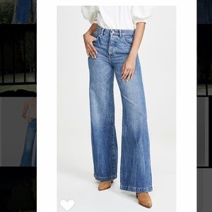 "DL1961 Hepburn ""Strauss"" wide leg, high waist jean"